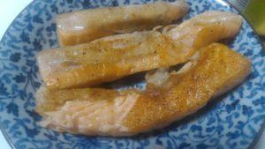 アトランティックサーモンのハラス焼き