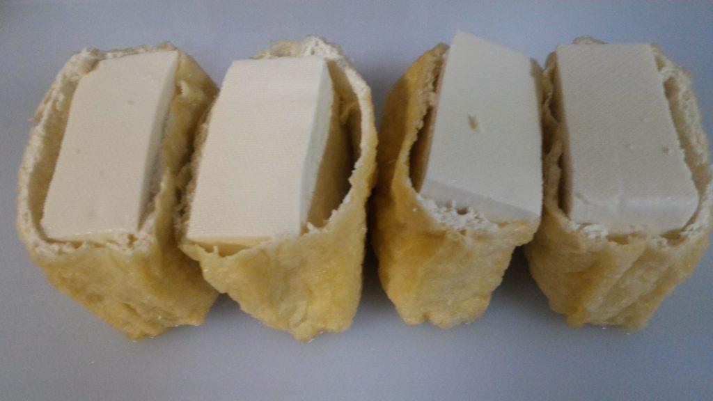 油揚げ包み豆腐